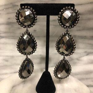 Dark gray dangle earrings